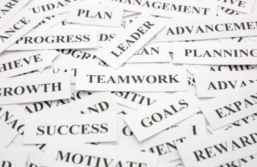 Teamwork! Business Word Theme.