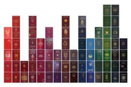 Passaporti: una tavolozza di colori in tutte le sfumature