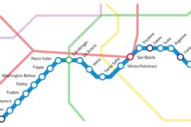 """""""Treno in arrivo per Linate. Allontanarsi dalla linea gialla"""""""