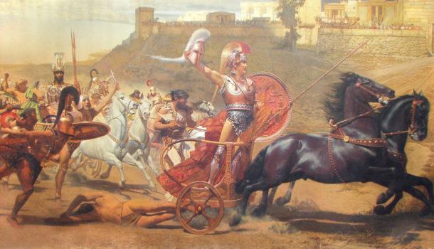 La fine degli eroi-rivisitazione della morte di Ettore.