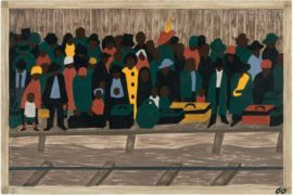 The Migration of the Negro di Jacob Lawrence