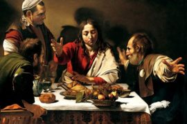 "Le due cene ""cene in Emmaus""di Caravaggio: confronto,analogie e differenze"