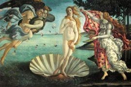 La Nascita di Venere, iconografia, origini e sviluppo del tema
