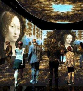 Una delle stanze della mostra Leonardo 3D